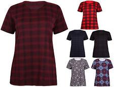 Karierte hüftlange Damenblusen, - tops & -shirts