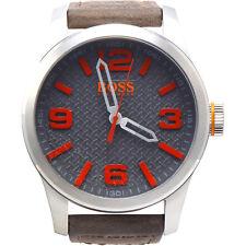 Hugo Boss Paris Grey Dial Leather Strap Men's Watch 1513351