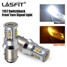 LASFIT 1157 Switchback LED Front Turn Signal Light for Subaru WRX STI Impreza