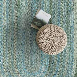 Capel Rugs Alliance Soft Chenille Polyester Braided Oval Rug Misty Sage 220