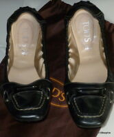Tod's ballerines cuir noir 40 Tods degas