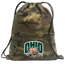 Ohio University Cinch Pack Backpack COOL CAMO Ohio Bobcats Bags SCHOOL or TRAVEL