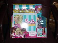 Barbie Ice Cream Cart Set W/23 Pieces New