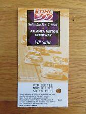 NASCAR Racing ATLANTA MOTOR SPEEDWAY Nov 7 1998 STIHL 300 Ticket JEFF GORDON