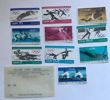 Olympic Games Sport 1972 Series Set of 10 Stamps - Berlin Cancellation Stamp