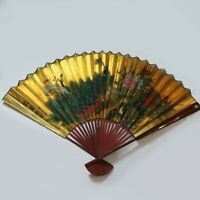 Large Vintage Chinese Hand Painted Peacock Wall Display Fan Artist Signed