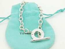 Rare Tiffany & Co Sterling Silver Thin Chain Link Toggle 7.5' Inch Bracelet