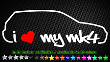 I Love My mk4 vw golf 4 gti r32 Autocollant Sticker Décalque 20 cm x 7 cm