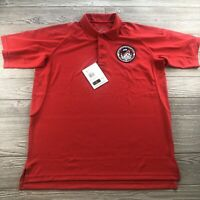 *5.11 Tactical Series Polo Shirt Men's Large Red Sleeve Pockets Short Sleeve NWT