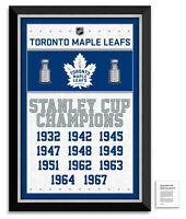 Toronto Maple Leafs Stanley Cup Champions Framed Museum Canvas™ Special Edition