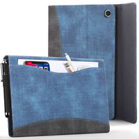 Apple iPad 10.2 2019 Case, Cover, Stand - Blue + Stylus & Screen Protector