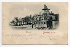 BENESTROFF Bensdorf Moselle CPA 57 train en gare carte nuage 1898