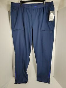 ***NEW MENS RUSSELL WOVEN TECH STRETCH JOGGERS HIKING CASUAL BLUE PANTS