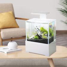 New listing Office Mini Small Fish Tank Aquarium W/Led Light Dormitory Table Decoration Sale