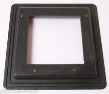 """6 3/4"""" Square Lens Board 3/8"""" Recess Reduced to 4"""" Board Large Format USED F01D"""