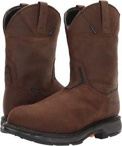 Ariat 185458 Mens Workhog Waterproof Carbon Toe Work Boot Brown Size 9 EE (Wide)