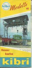 Katalog Kibri ca.1960 Modellbausätze Gebäude + Zubehör in HO 1:87
