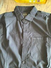 $80 NWT Armani Exchange LONG SLEEVE, Slim Fit Black Men Shirt Size S Small