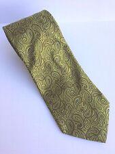 Ted Baker Paisley Green Sheen Tie 100% Italian Silk