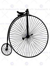 CULTURAL ICON PENNY FARTHING CYCLE WHEEL VICTORIAN POSTER PRINT BB09B
