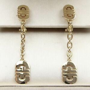 BVLGARI 18ct Yellow Gold Parentesi Drop Earrings