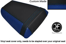 ROYAL BLUE AND BLACK VINYL CUSTOM FOR HONDA CBR 600 F 01-03 REAR SEAT COVER ONLY