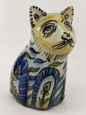 QAJAR PERIOD POTTERY CAT FIGURINE ISLAMIC ART 19TH CENTURY
