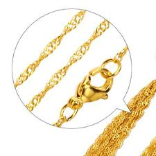 Singapore Chain 2 mm 999 24k Gold-plated Unisex Yellow Gold K2871