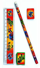 6 Super Hero Stationery Sets - Pinata Toy Loot/Party Bag Fillers Kids