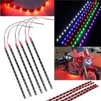 6PCS Waterproof  DC 12V Motor LED Strip Underbody Light For Car Motorcycle ER