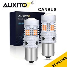 AUXITO BAU15S 7507 Amber Canbus Error Free LED Turn Signal Light  No Hyper Flash