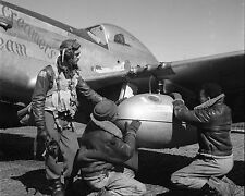 Tuskegee Airmen Plane Fuel Pod Ramitelli Italy 1945 8x10 World War II WW2 Photo