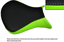 DESIGN 2 L GREEN & BLACK CUSTOM FITS KAWASAKI NINJA ZX6R 07-08 FRONT SEAT COVER
