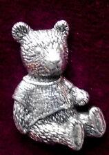 Schöne Vintage Teddybär Zinn Anstecknadel Brosche