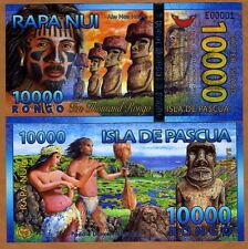Easter Island, 10000 (10,000) Rongo, 2013 (2014), Polymer, New, UNC   Beautiful