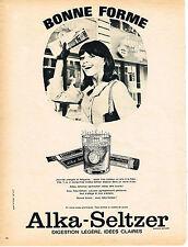 PUBLICITE  1966   ALKA-SELTZER   anti-fatigue