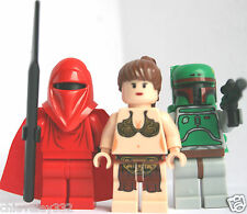 LEGO STAR WARS Minifigures Royal Guard,  Princess Leia & Boba Fett NEW