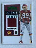 Chase Young 2020 Contenders Rookie Ticket Green Relic/Jersey/Patch RTS-CYO