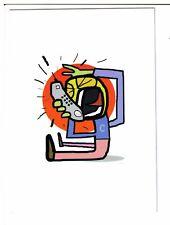 """Postcard: """"Mobile Clone"""" by Jon Burgerman"""