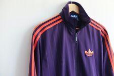 Adidas Originals tracksuit jacket Purple orange S firebird track trefoil Rare