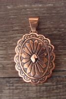 Navajo Indian Copper Concho Pendant by Laura Willie! Hand Stamped!