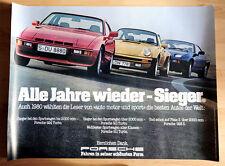 """org. Porsche Plakat Werbe Poster """"Sieger-Bestes Auto der Welt"""" 1980 Porsche 911"""