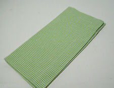 Williams Sonoma Green Small Checkered Gingham Cotton Dinner Napkins Set of
