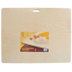 Asse Per Impastare Spianatoia In Legno Con Manico Pasta Pizza 90 x 59 cm