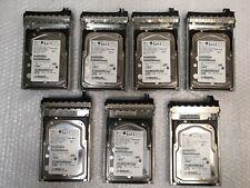 "- LOT OF 7   Fujitsu MAX3073RC H8799 3.5"" 15K RPM 73GB SAS HARD DRIVE W/TRAY"