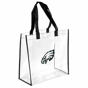 Philadelphia Eagles Clear Reusable Plastic Tote Womens Bag NFL Stadium Approved