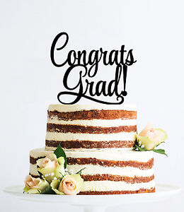 Graduation Party Cake Toppers Selection, Congrats Grads Decorations, US Seller