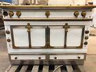 "La Cornue 120 (47.2"") Range White w/ Brass Trim Custom Stove photo"