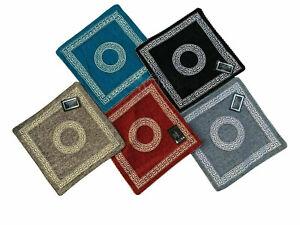 "18'' x 18"" Cushion Covers Jacquard Greek Border Key Geometric Pattern"