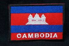 """CAMBODIA FLAG EMBLEM PATCH SEW ON EASY TO USE 2""""x3"""""""